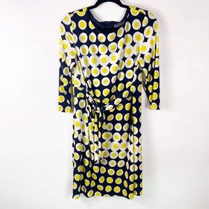Jessica Howard   yellow polka dot wrap dress